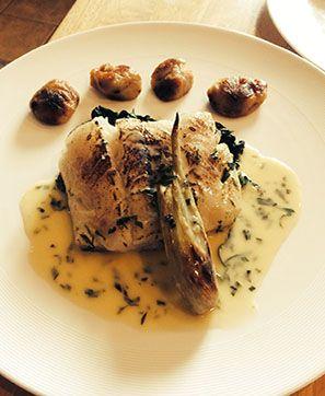Seared Cod, Braised Fennel, Black Garlic Gnocchi, Tarragon Burre Blanc