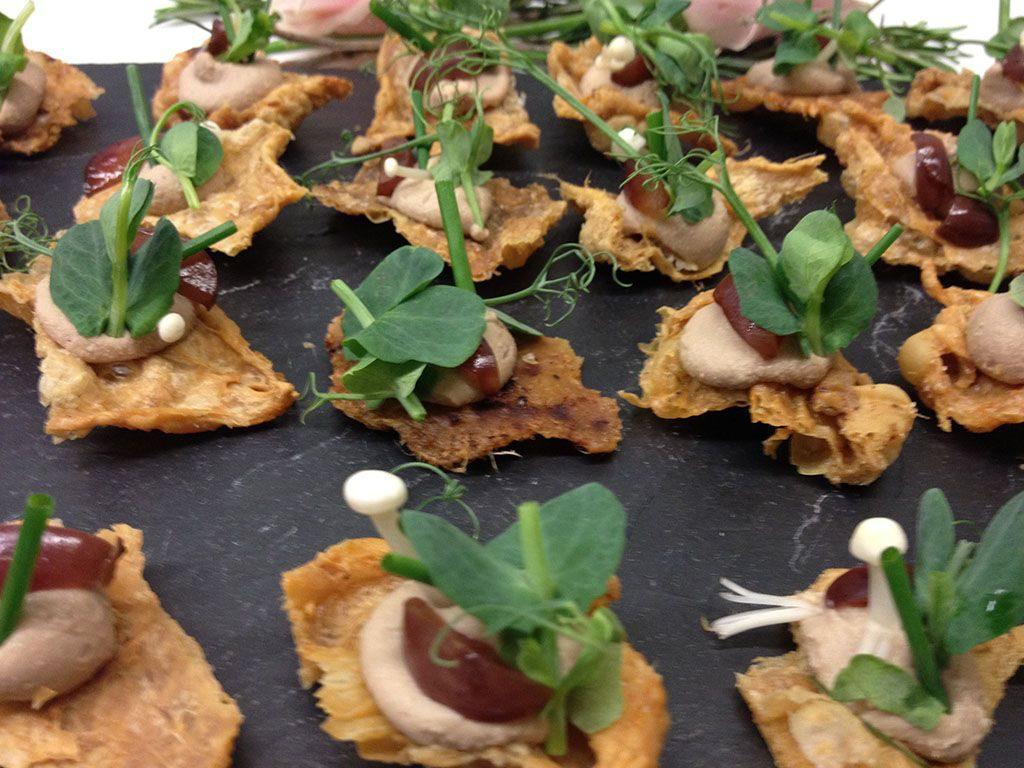 Foie Gras, Pickled Grape, Crispy Chicken Skin